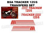 BSA Tracker 125/6 Transfer Decal Set Red